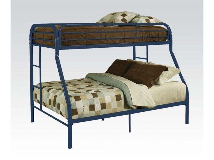 ACME Tritan TwinFull Bunk Bed Blue  BU  Twin full bunk bed