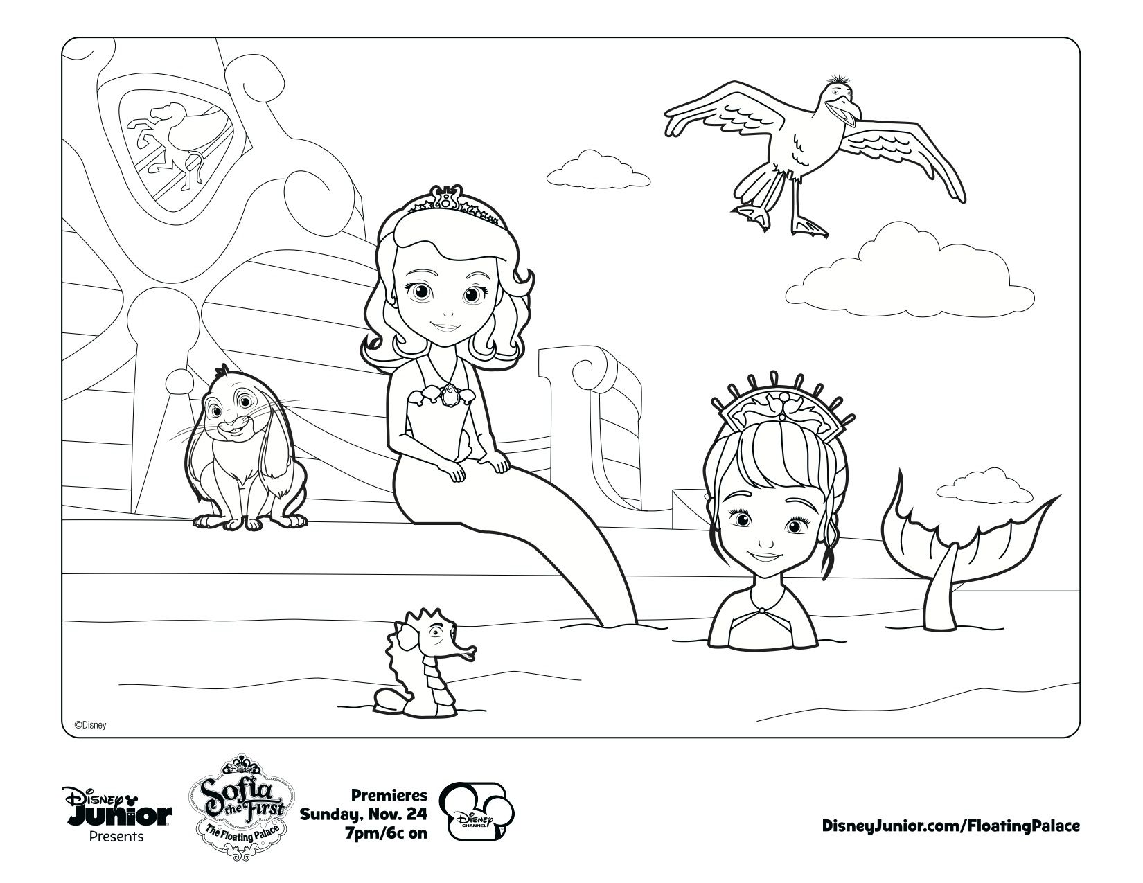 Sofia The Mermaid Print Out And Color Away