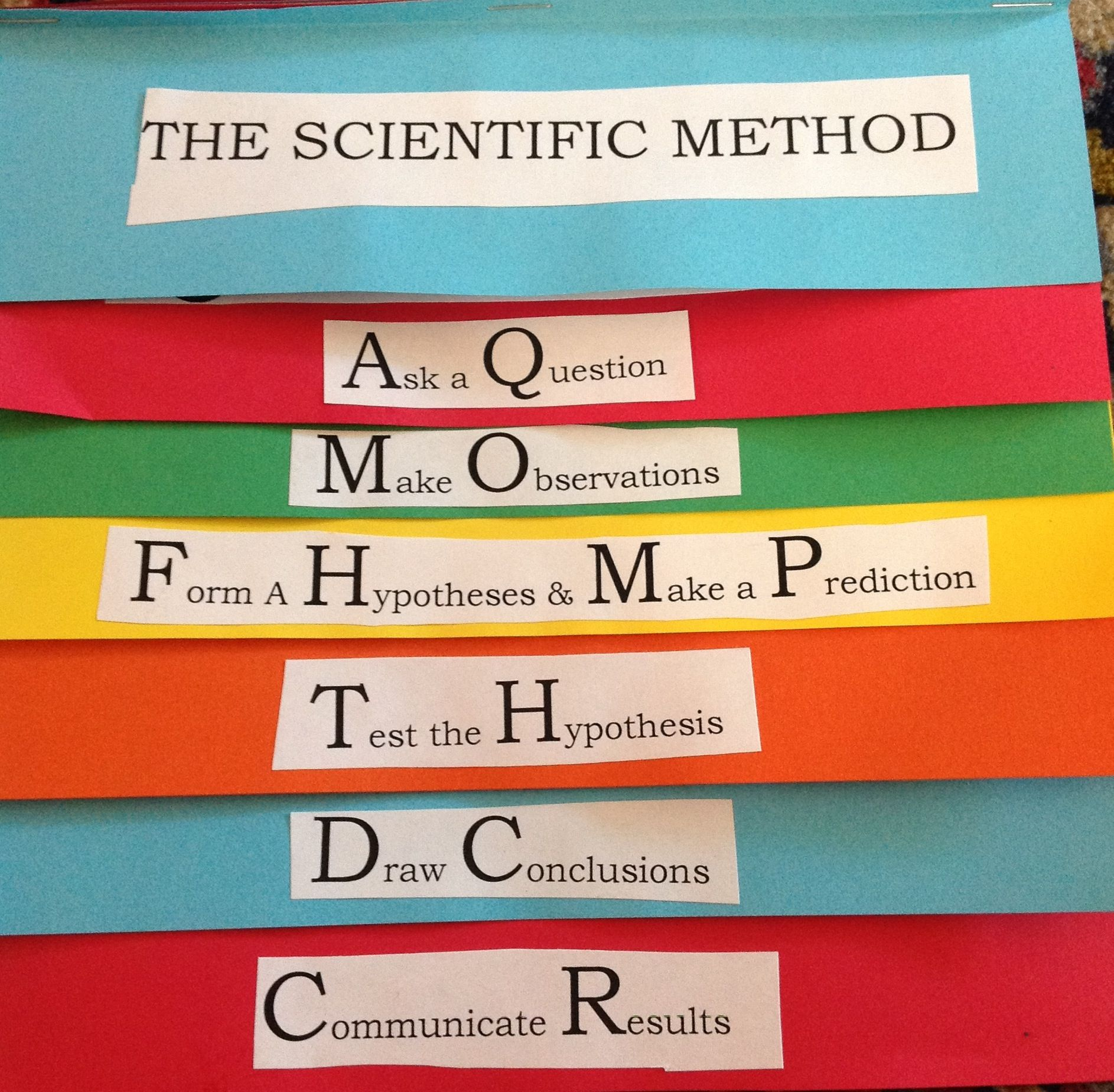 Scientific Method Foldable Flip Book