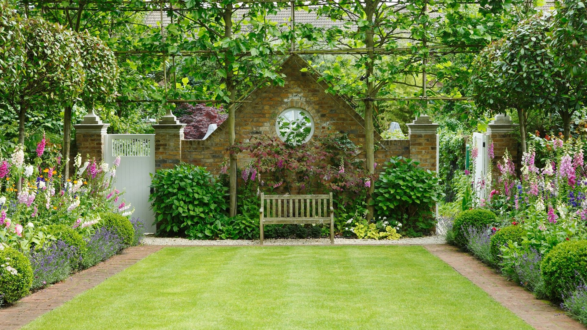 This Mature Formal English Garden Is The Height Of