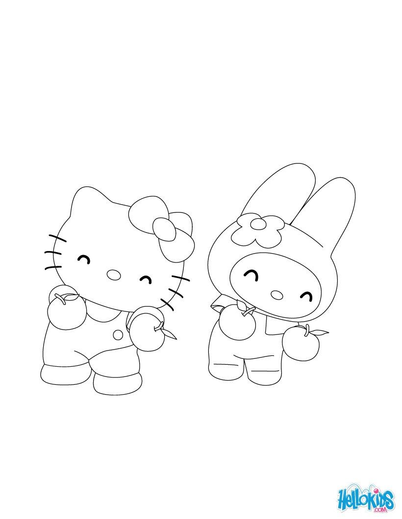 Hello Kitty Dancer Free Printing Page Hello Kitty Coloring Pages