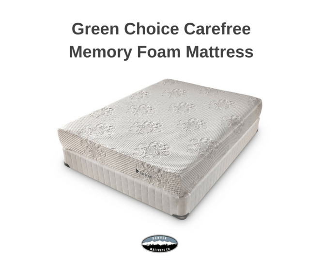 Free Of Ozone Depleters And Pbdes The Green Choice Carefree Memory Foam Mattress Is On