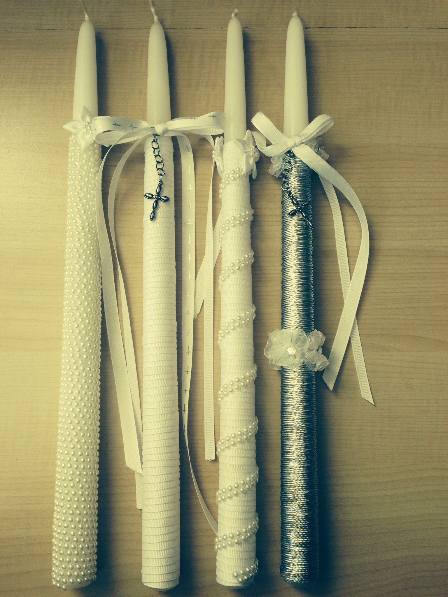 Baptism Candles I Like The Idea Of A Wrapped Candle With