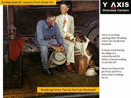 This Is A Touching Painting Titled Breaking Home Ties By Normal Rockwell It
