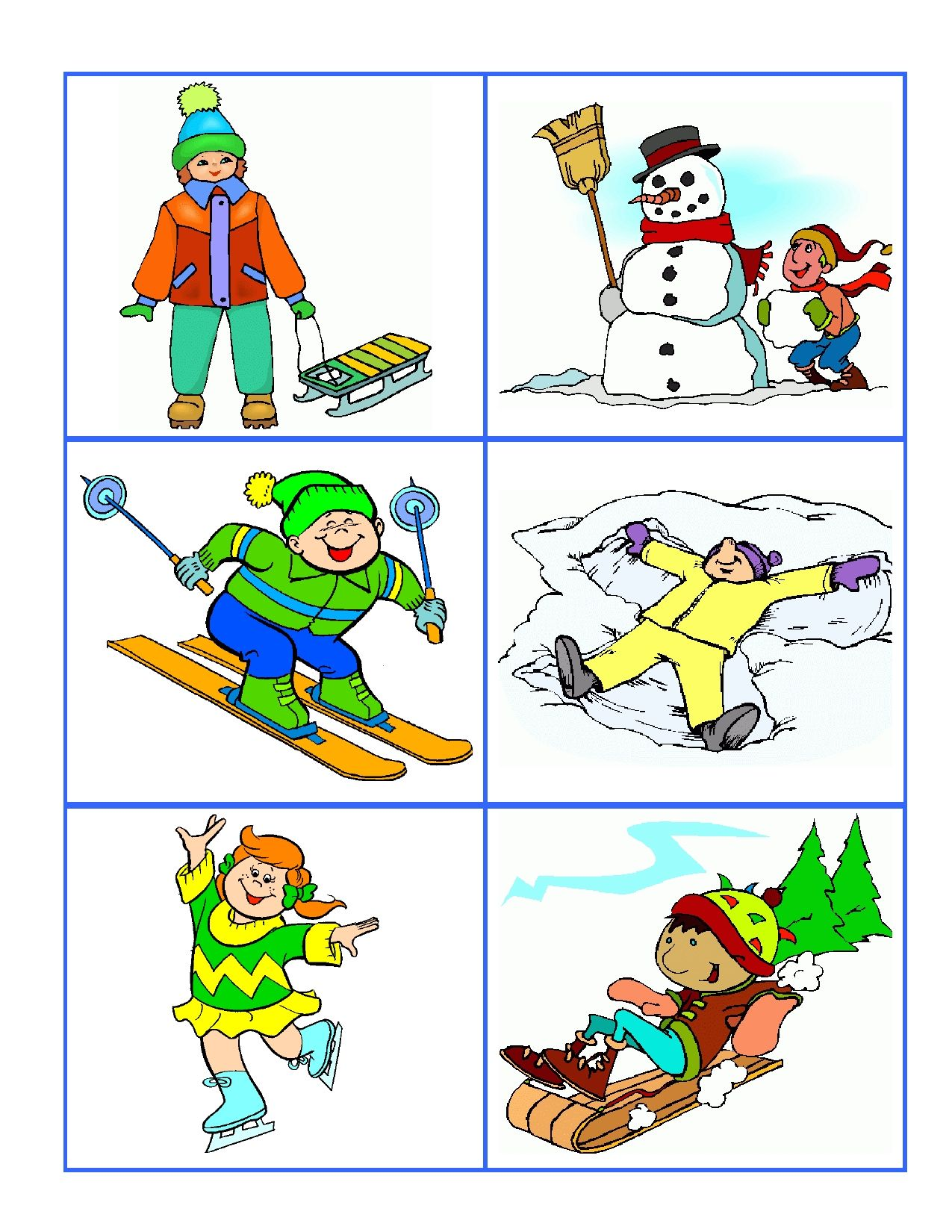Hot Or Cold Weather Cards Help Preschoolers Develop