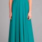 Stunning high illusion neck chiffon bridesmaid dress in teal
