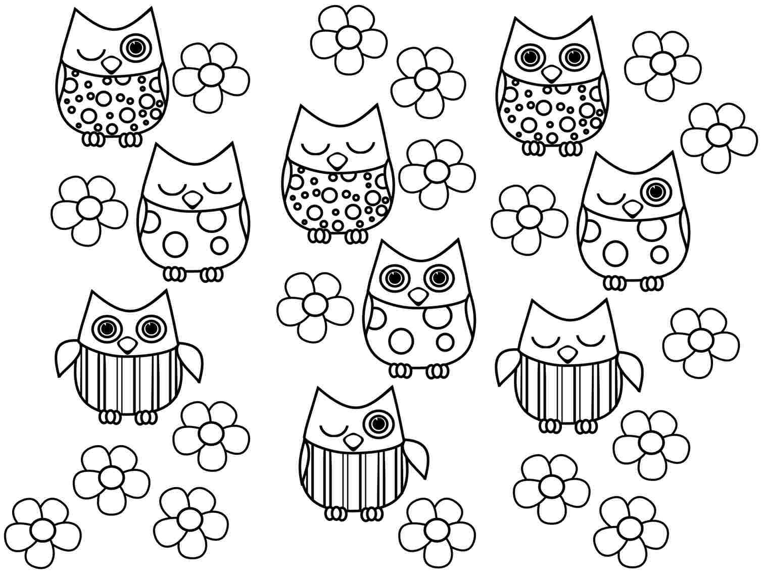 Print Full Size Image Free Colouring Sheets Animal Owl For Preschool
