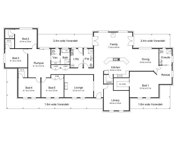 6 Bedroom House Plans Australia