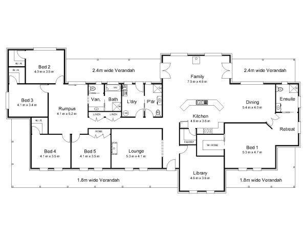 6 Bedroom House Plans Australia