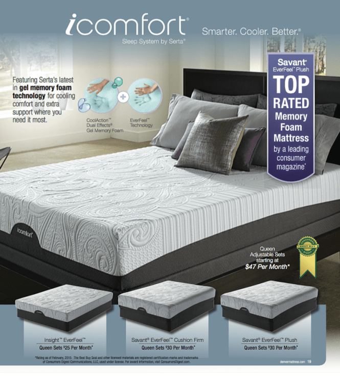 Memory Foam The Icomfort Sleep System By Serta At Denver Mattress Pricing And Finance Offers