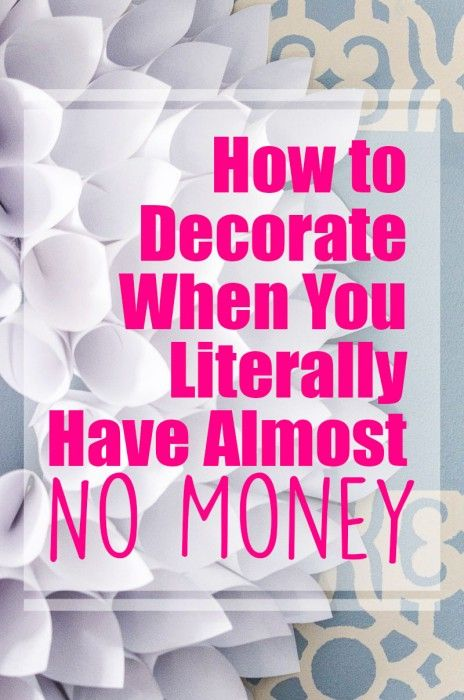 How To Decorate On A Tight Budget Budgeting Decorating