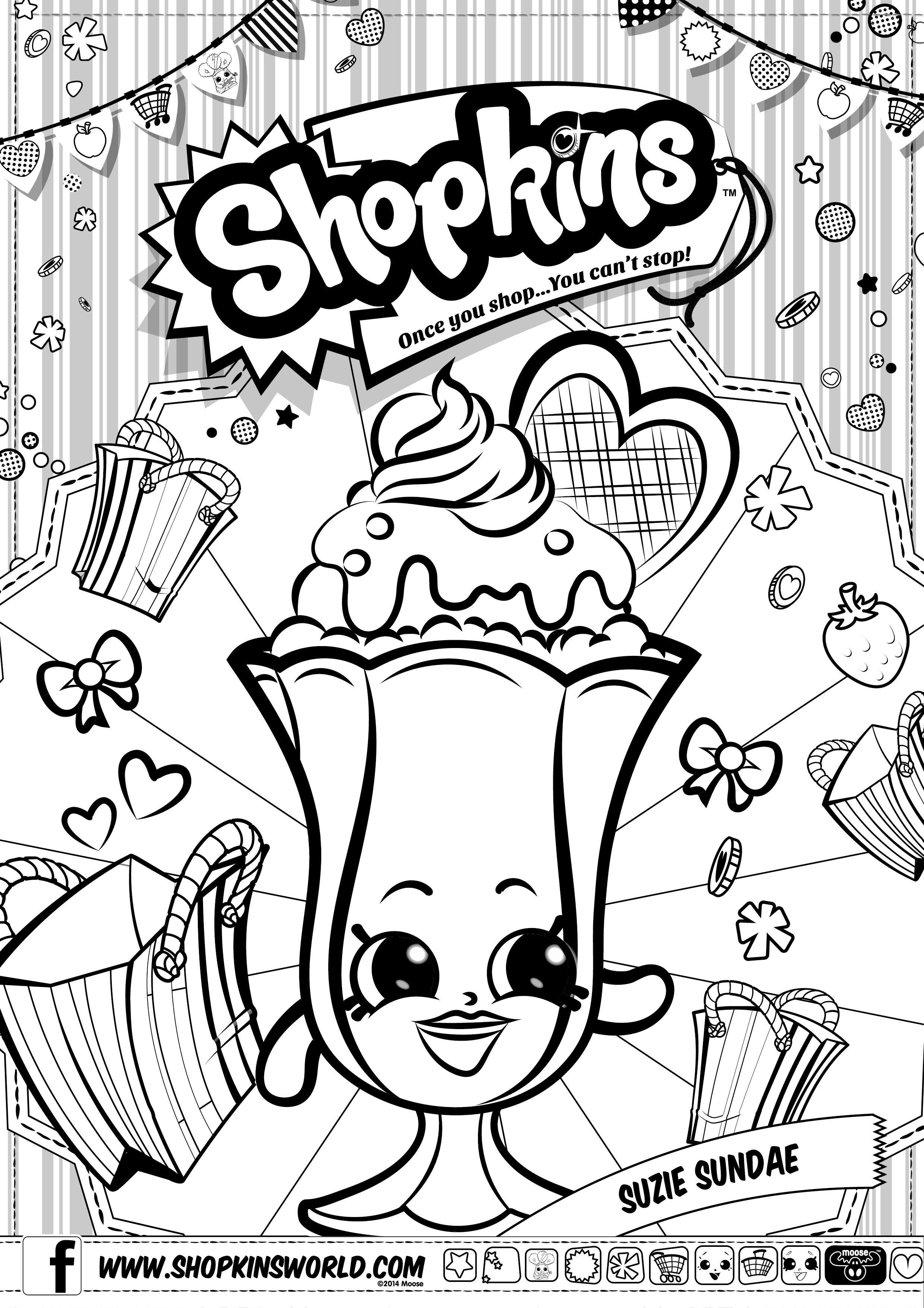 Shopkins Coloring Pages Preschool Printouts Pinterest