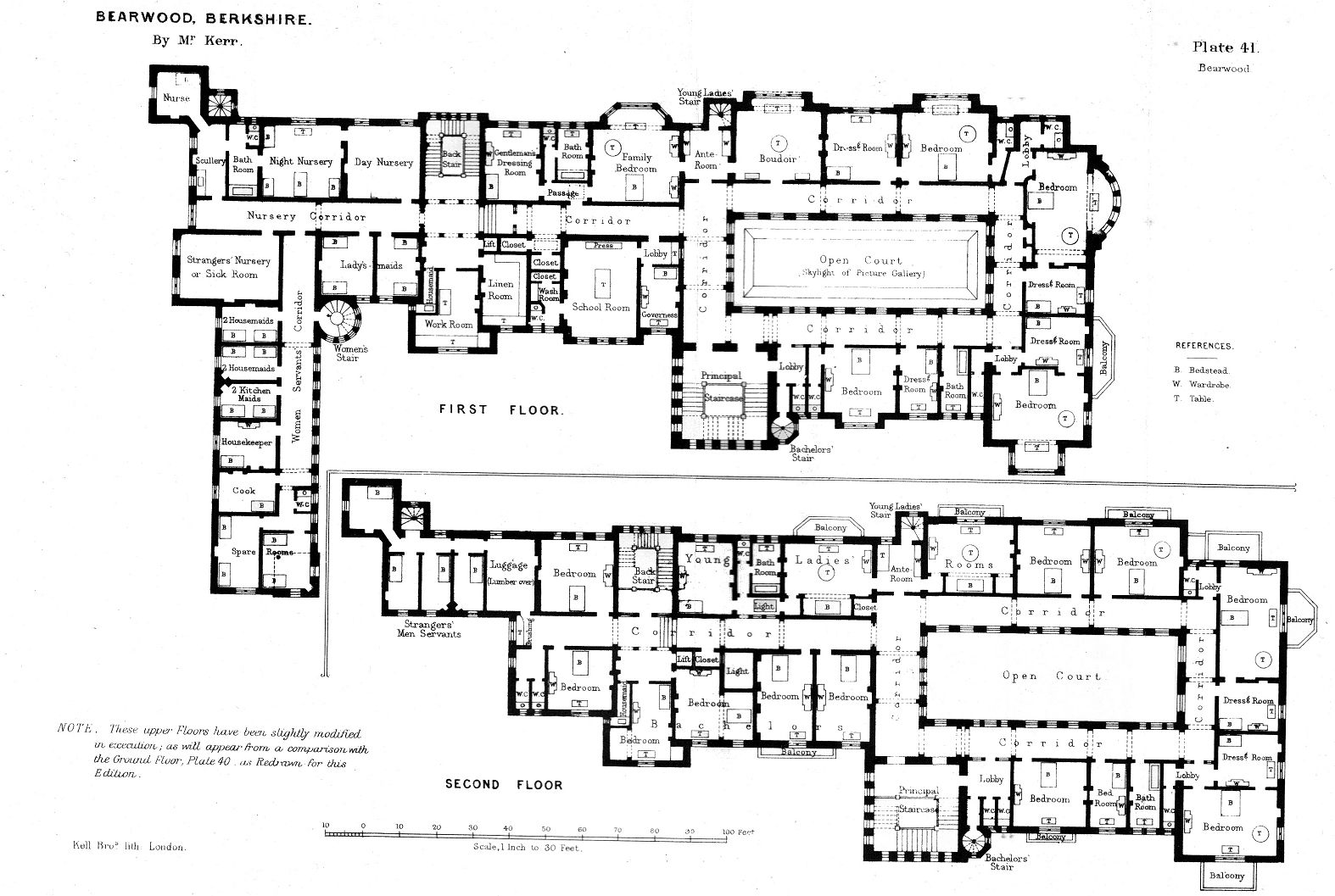 First And Second Floor Plans Of Bearwood House