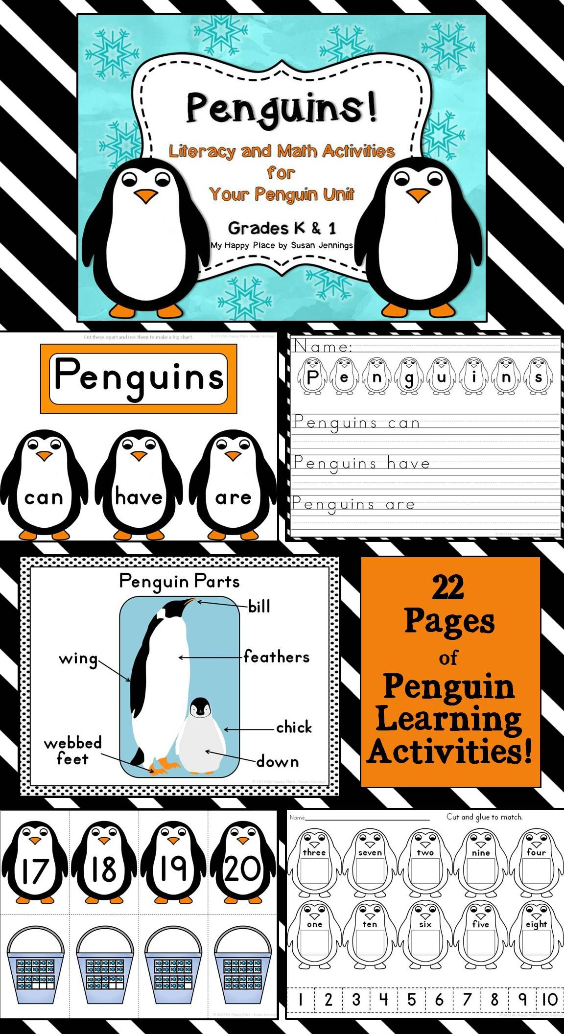 Penguins Unit Powerpoint And Printables Non Fiction