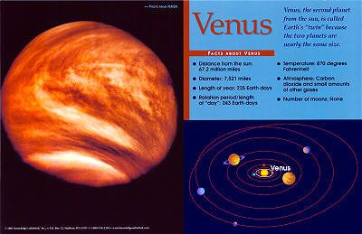 Planet Venus Facts | Charlin's Science Lesson | Pinterest ...
