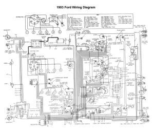 Wiring for 1953 Ford Car   FORD 1952, '53, '54   Pinterest