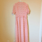 Saleavec les filles pink bow tie maxi dresses and short sleeves