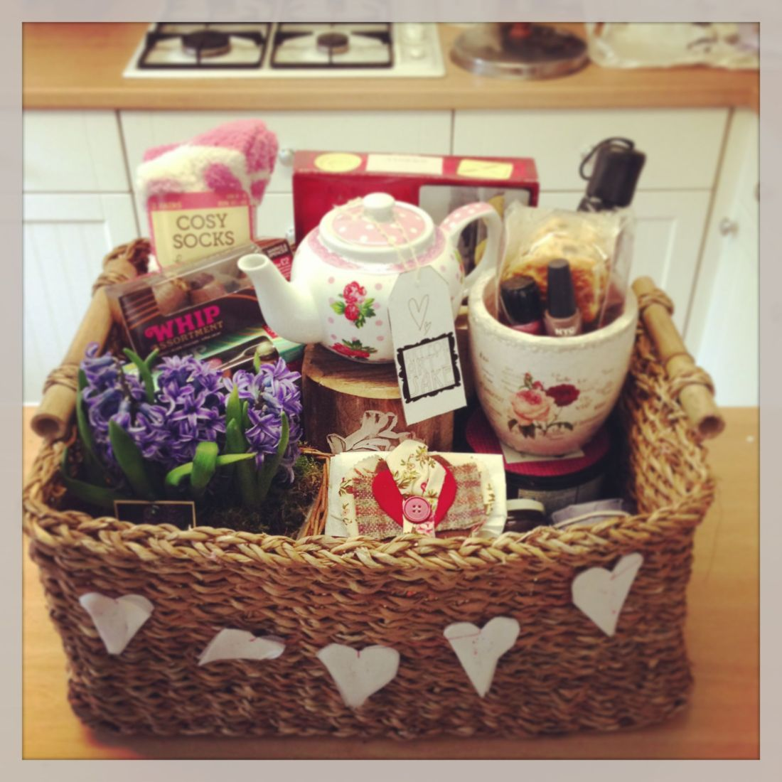 Afternoon tea and scones hamper made for my mother and an
