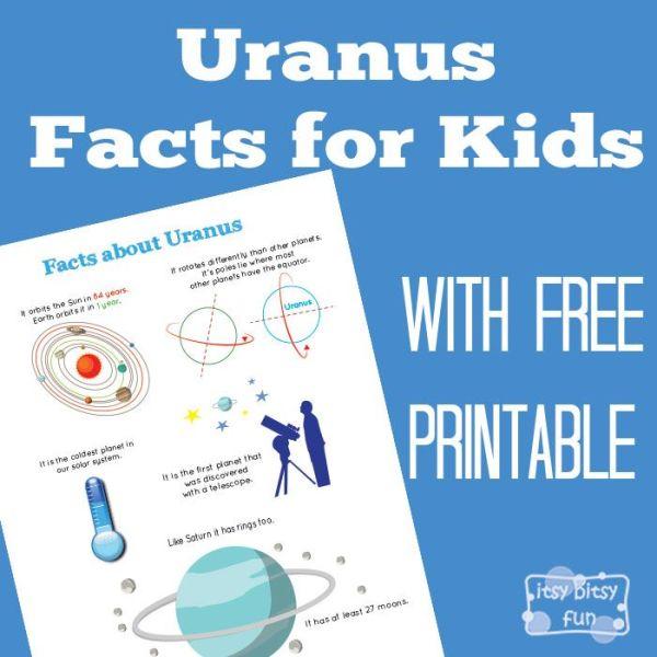 Fun Uranus Facts for Kids Solar system facts Solar