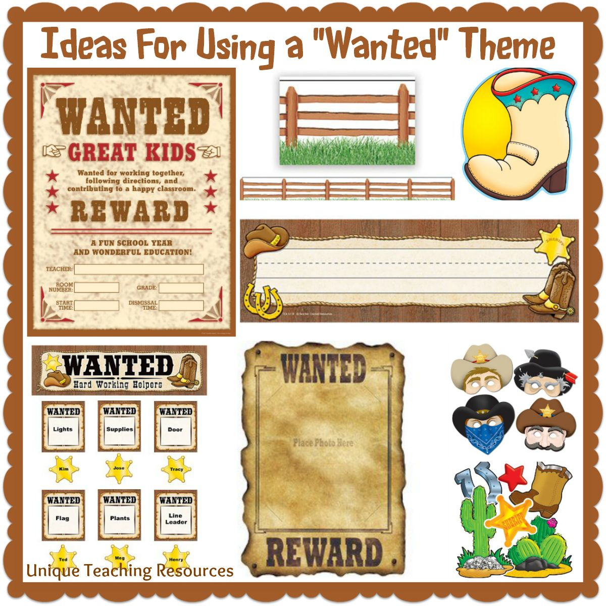 Wanted Poster Book Report Project Templates Worksheets