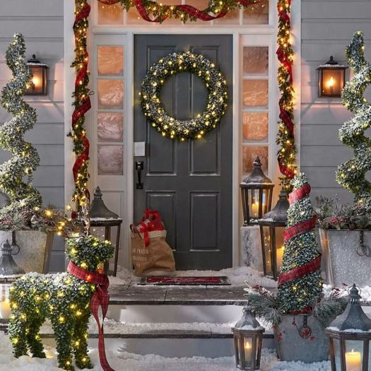 27 exceptional outdoor christmas decorations potterybarn xmas