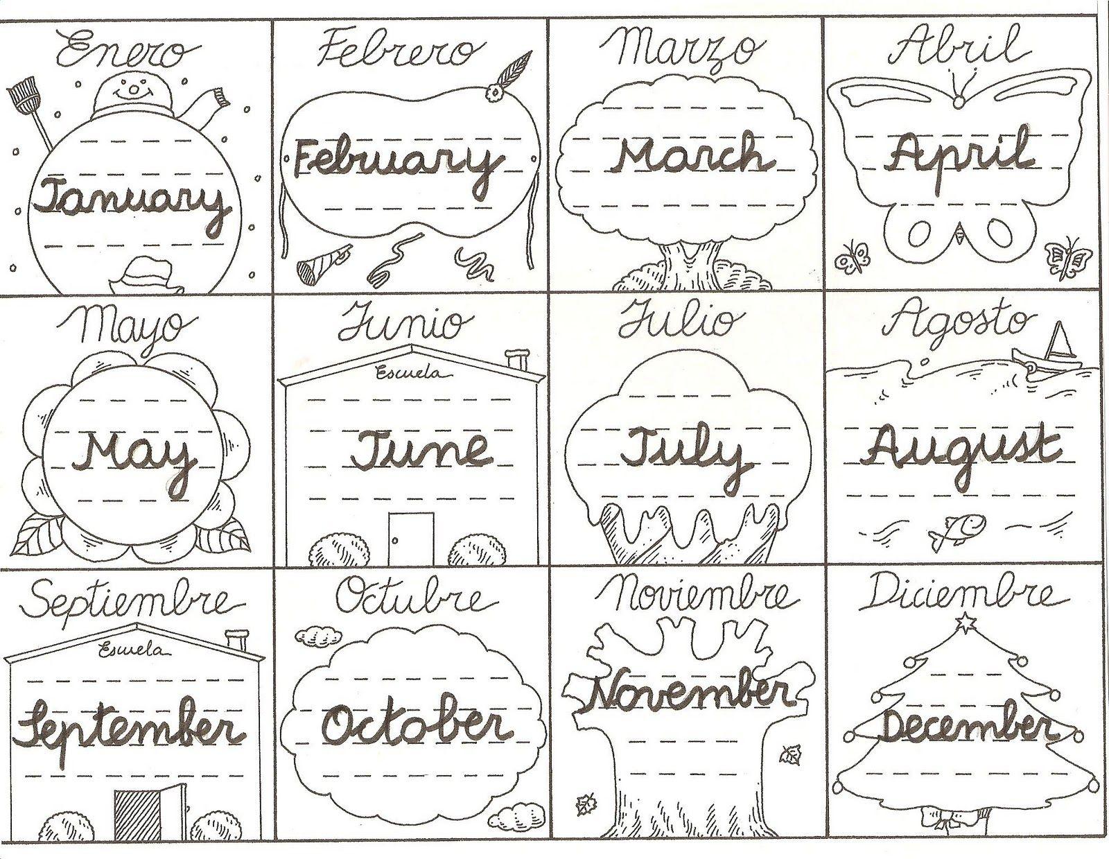 Resultado De Imagen De Months Of The Year En Ingles