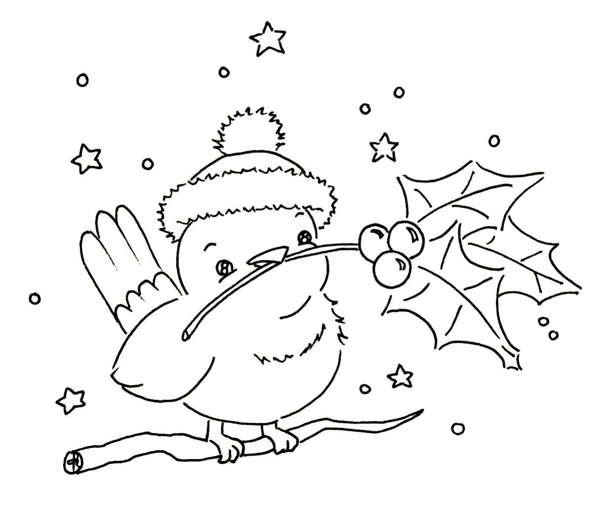 Sliekje Digi Stamps Little Winter Bird