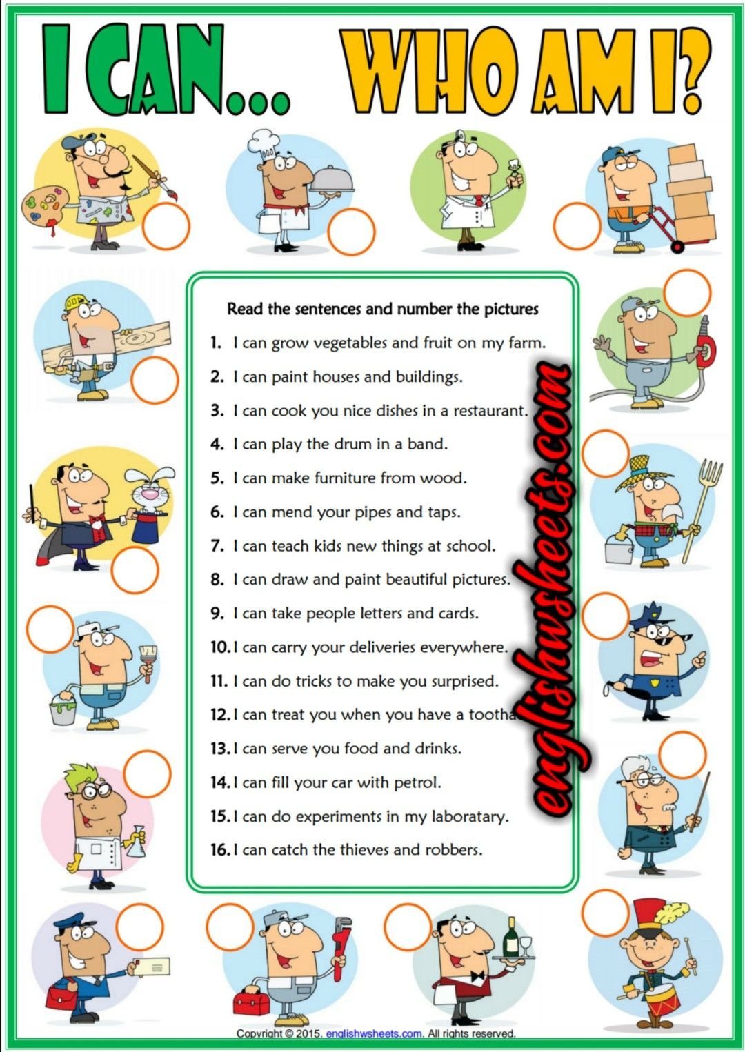 Kindergarten Worksheet For Listening