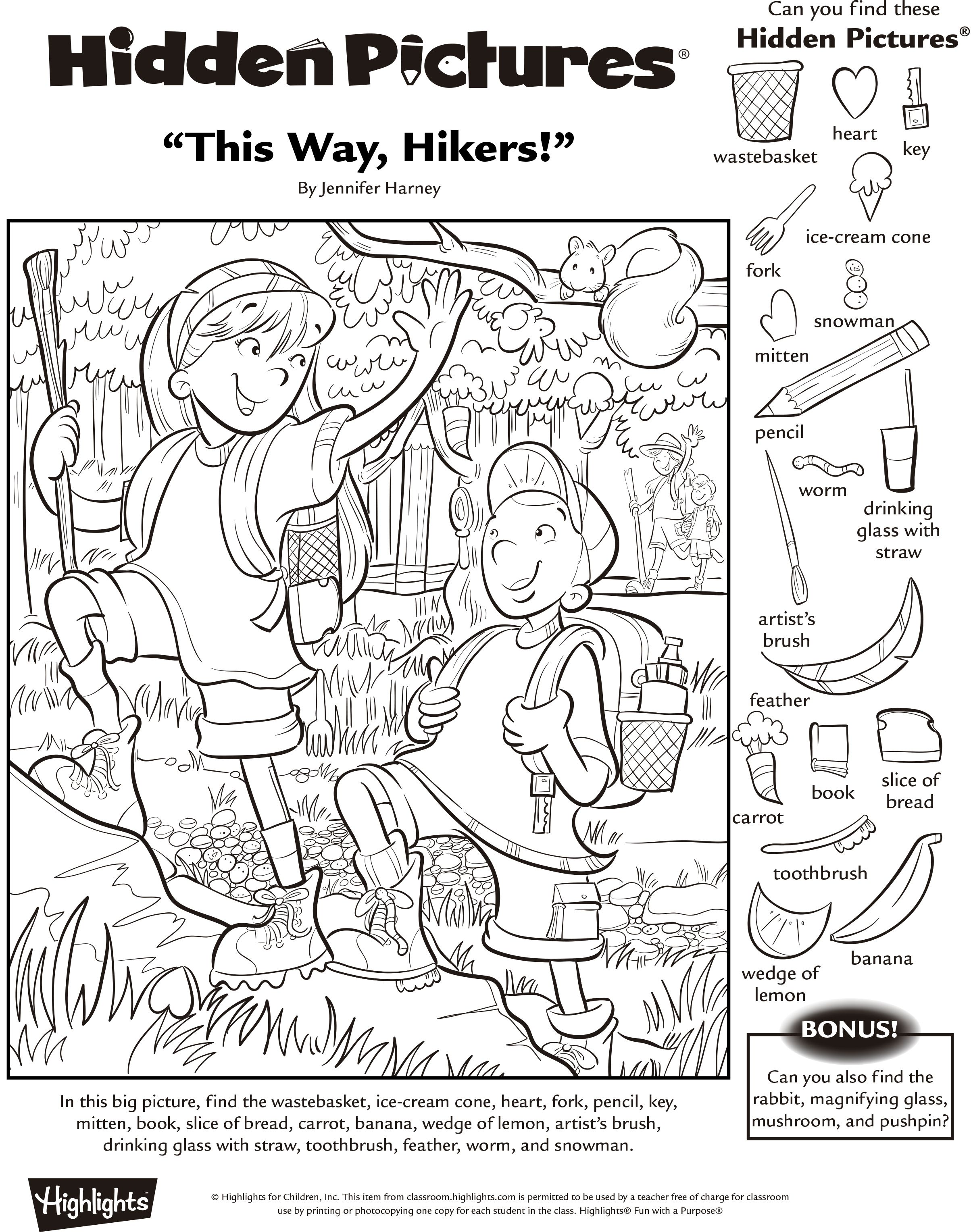 Hidden Object Worksheets Kindergarten