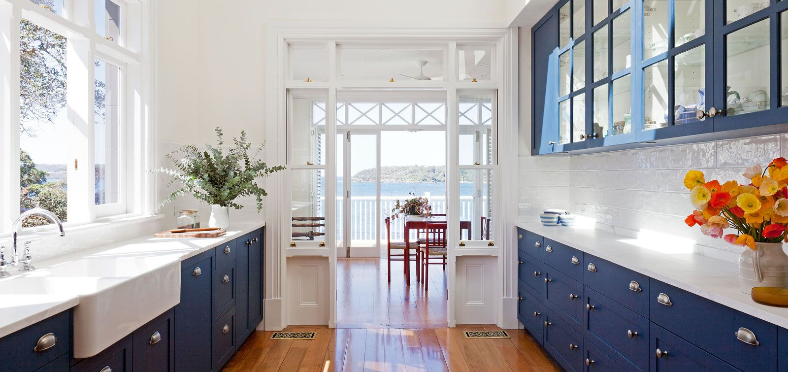 blue cabinets white counter beach view yes please house fantasy holiday house on kitchen cabinets blue id=96236