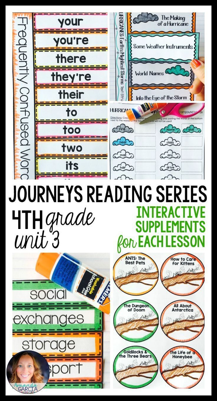 Journeys Gr De 4 Unit 3 Bundle Supplement L M Teri Ls With