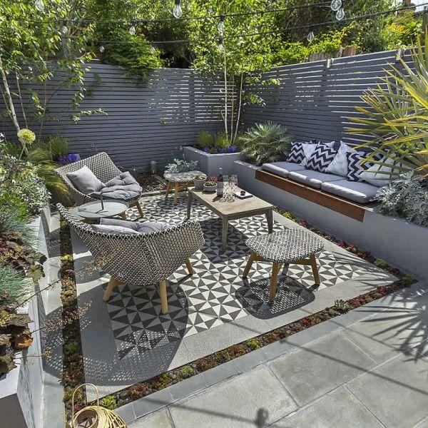 pinterest outdoor patio tiles Private Small Garden Design | Giardini | Pinterest | Small