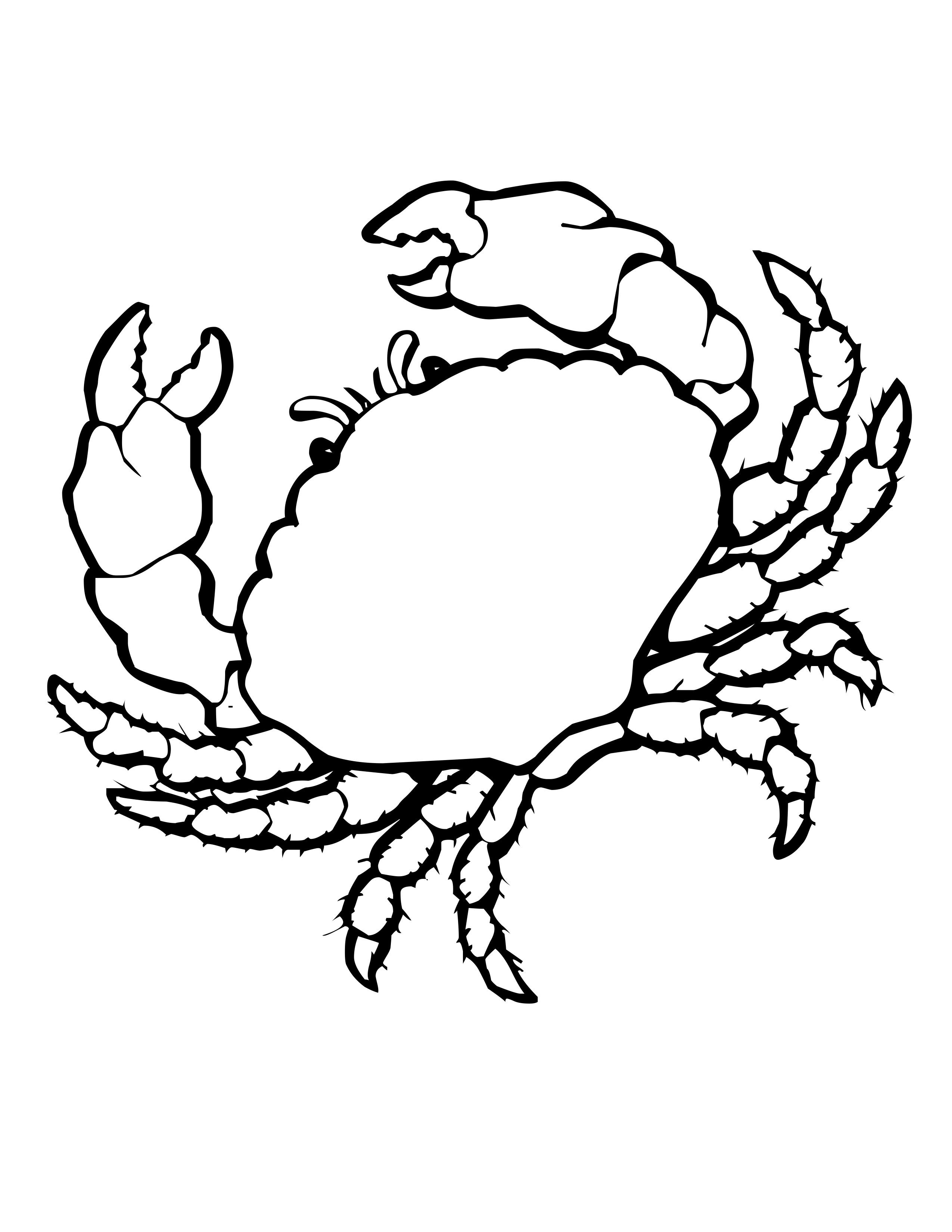 Rine Animals Coloring Pages Crab Coloring