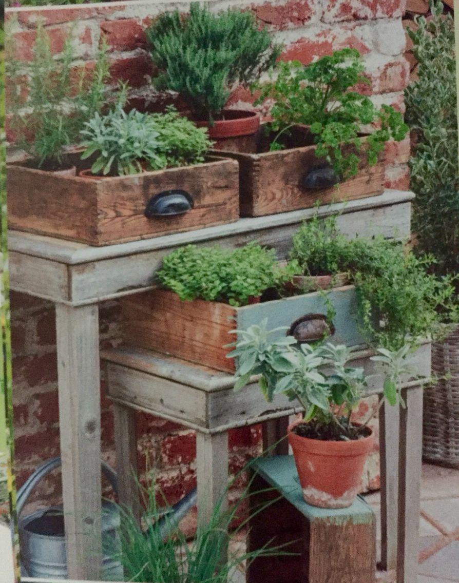 alte Schubladen bepflanzt Ich Pinterest Alte
