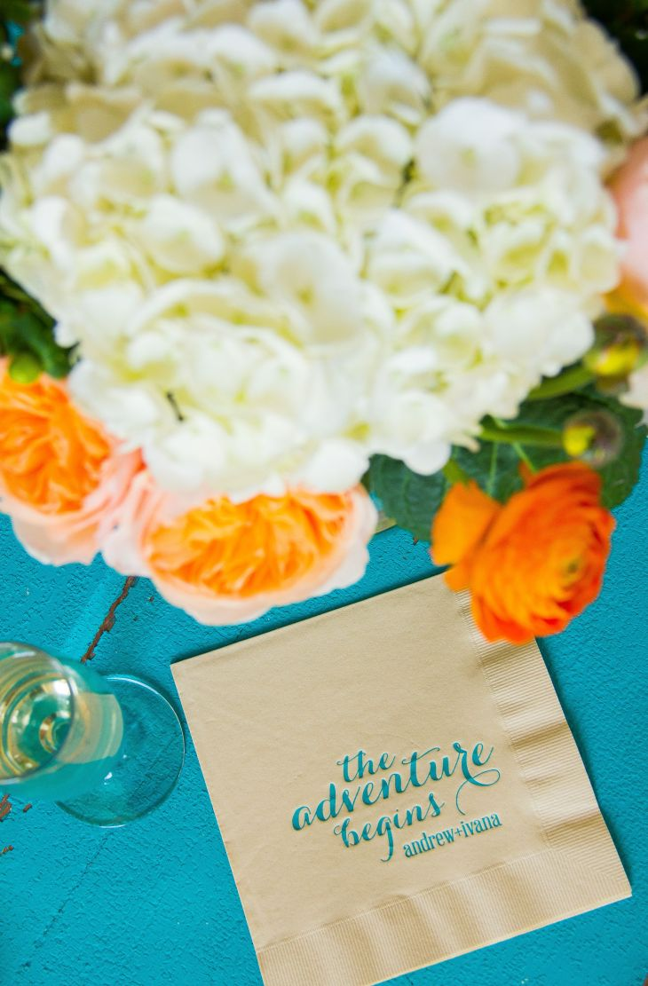 Custom cocktail napkins from ForYourParty are a simple but