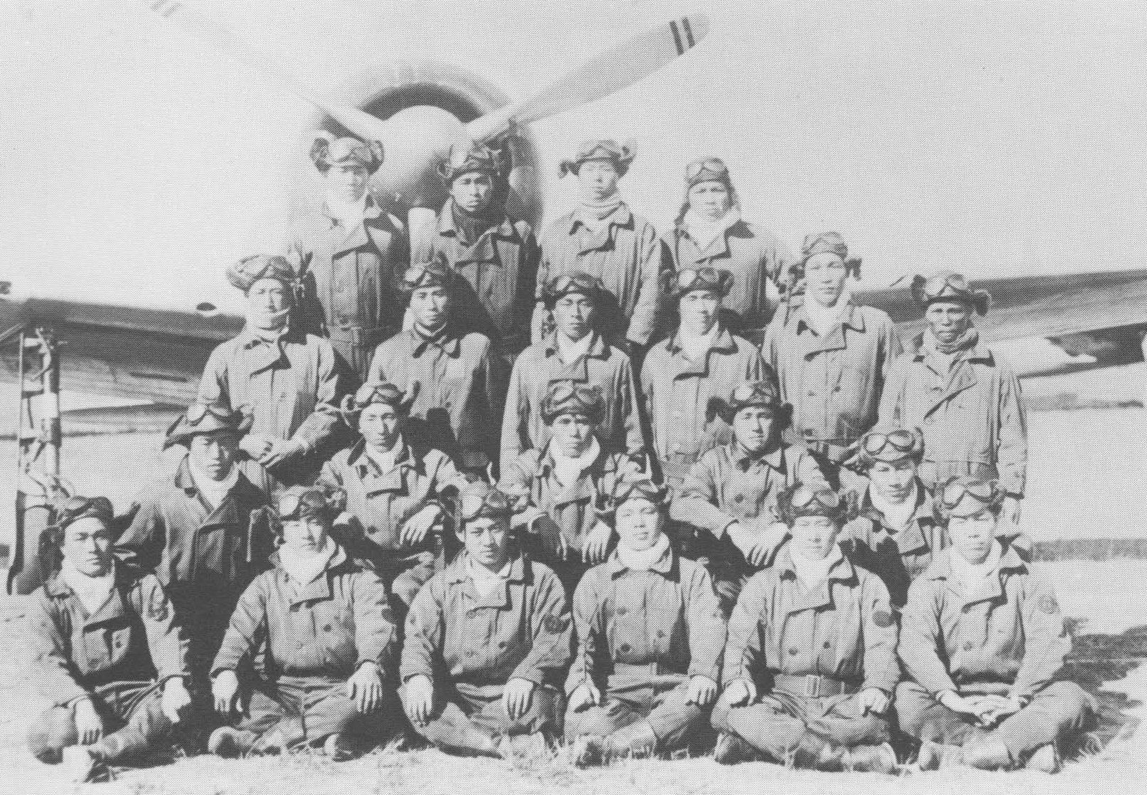 Photo Group Portrait Of Carrier Shokaku S Fighter Squadron Japan Oct Or Nov A6m Zero