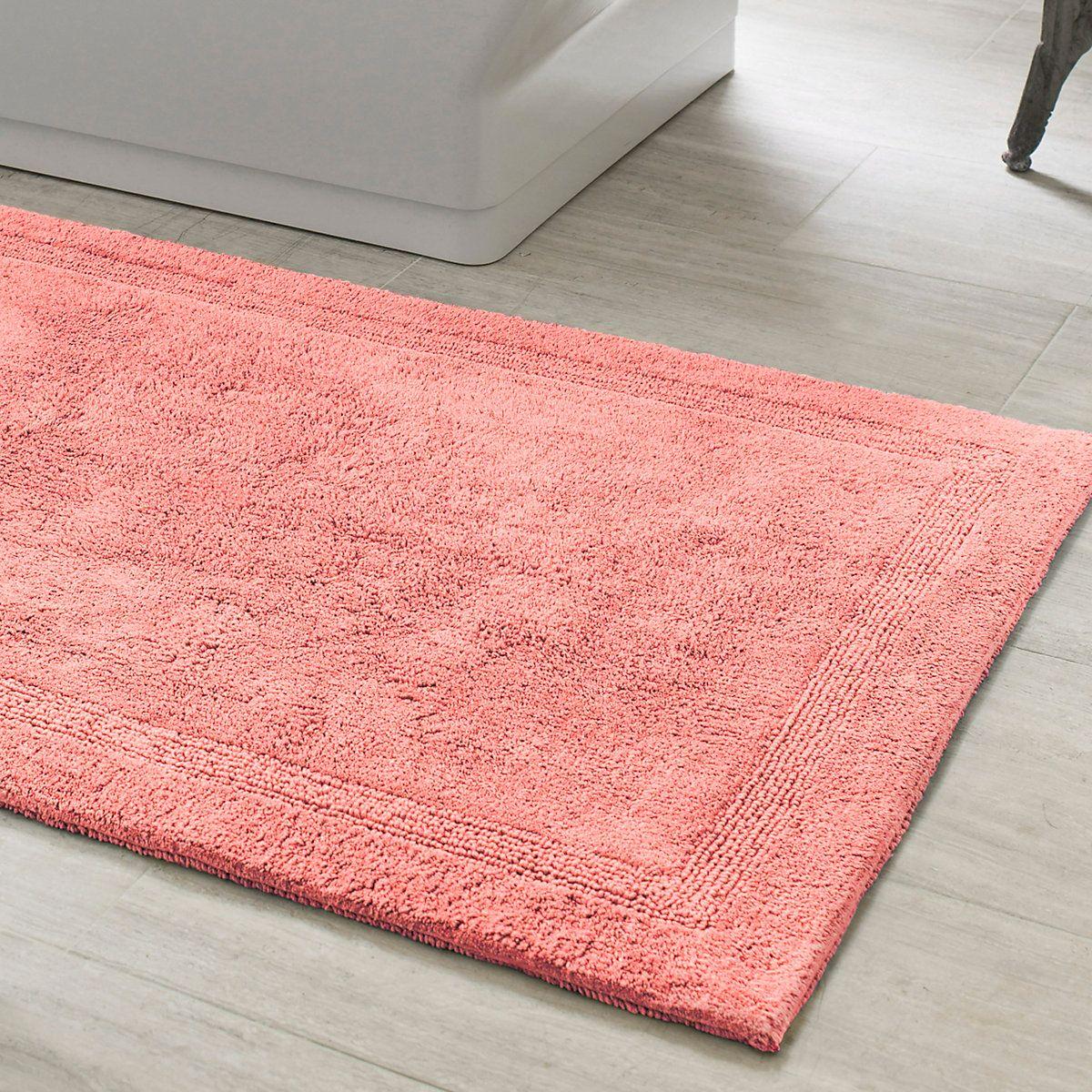 signature coral bath rug | bath rugs, coastal and bath