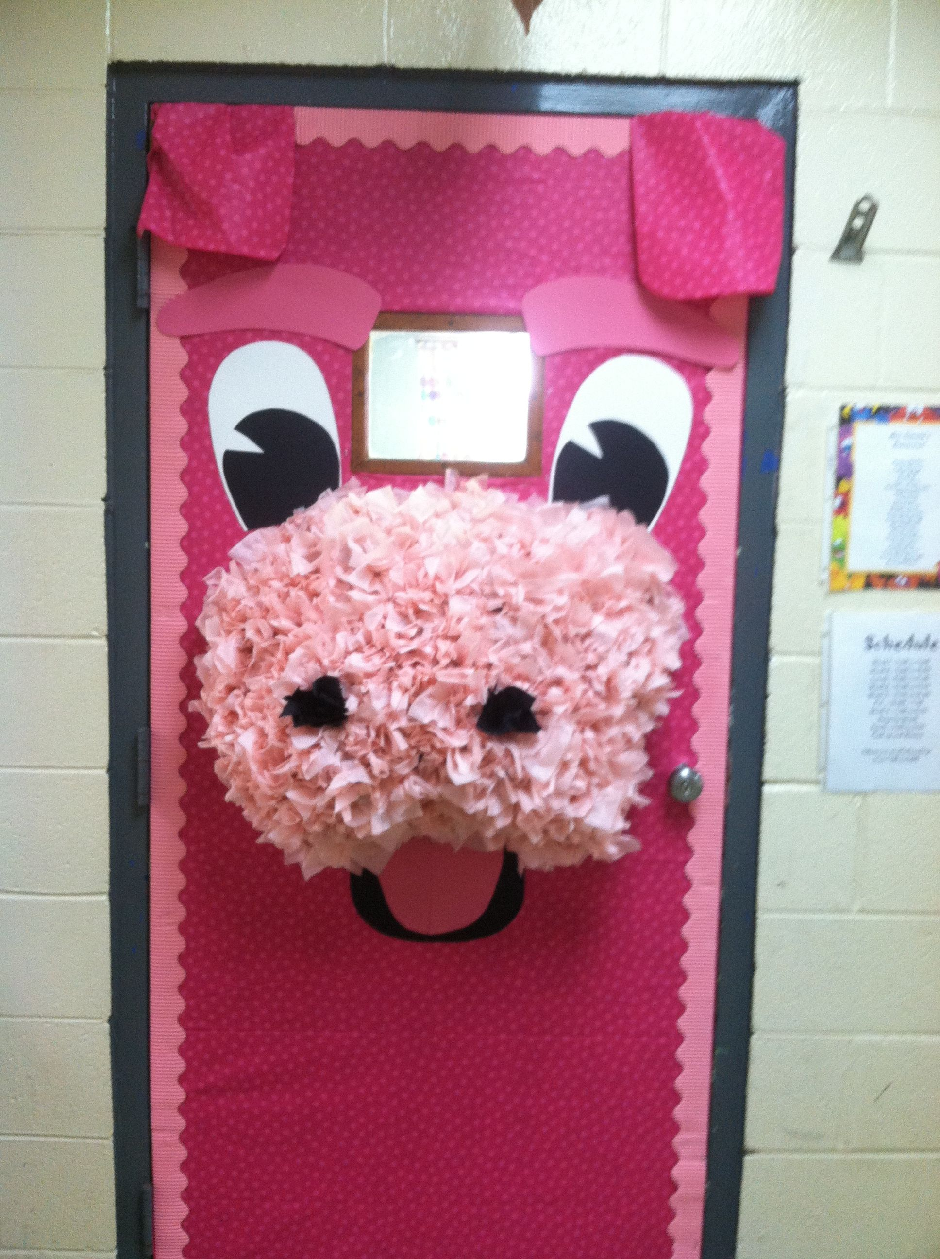 Pig Door For The Classroom Love Pigs Is Is Adorable