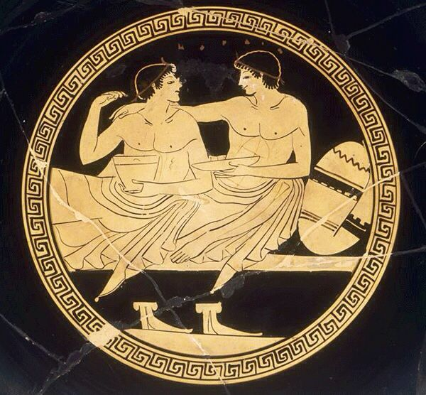 Image result for Ancient Greek Symposium Sex vase