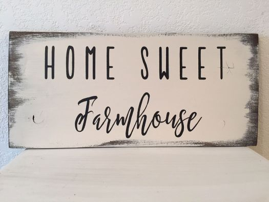 Home Sweet Farmhouse Sign 13 X 24 1 2 Hand Painted Wood