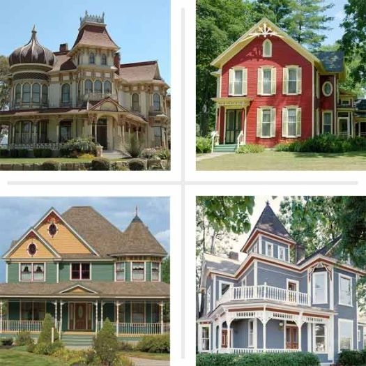 Four Examples Of Paint Color Ideas For Ornate Victorian Era Houses