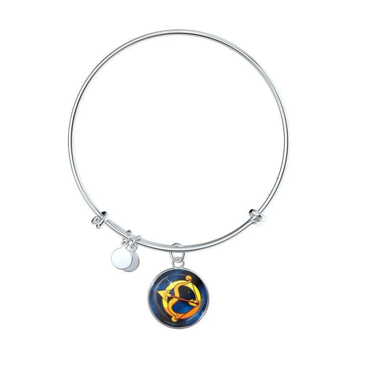 Zodiac Sign Sagittarius Bangle Bracelet Products