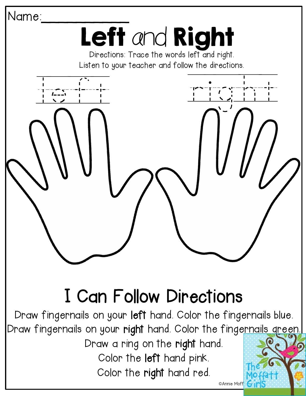 Left And Right Listen To The Teacher And Follow The Directions This Is Such A Fun Activity To