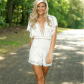 Hello molly white lace romper white lace romper lace romper and