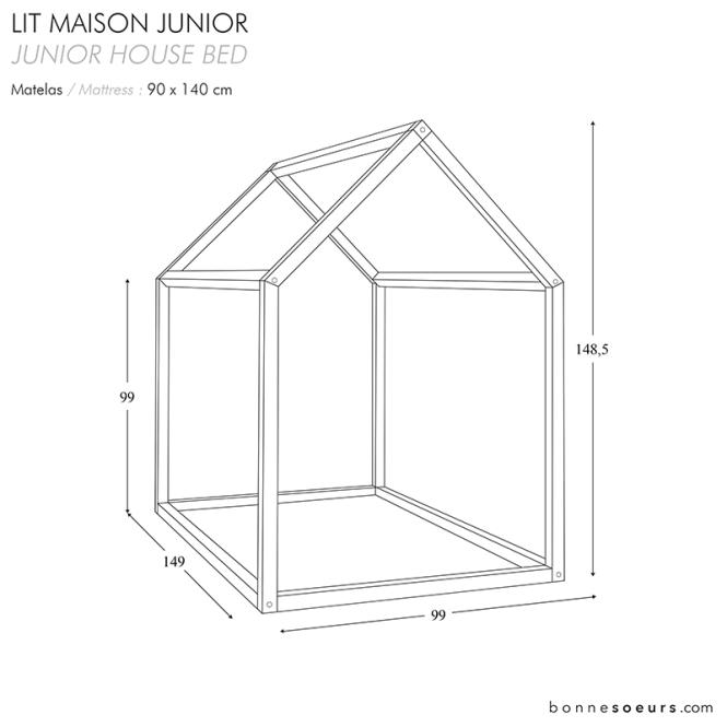 Bonnesoeurs Design Lit Maison House Bed Dimensions Taille Junior Size
