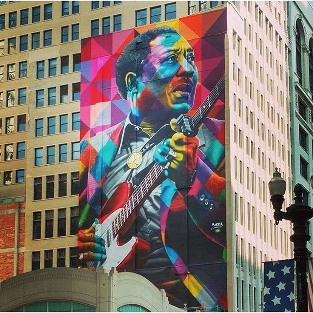Image result for muddy waters mural chicago