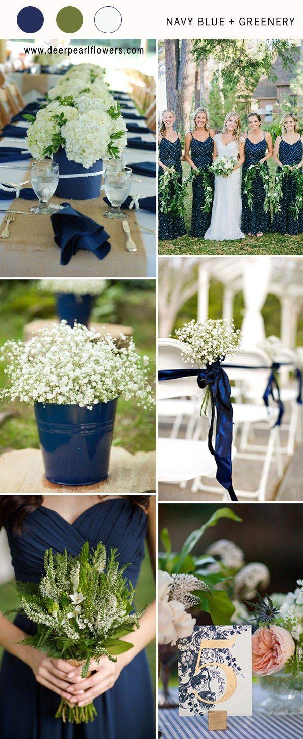 Top  Navy Blue Wedding Color Combo Ideas for   Blue wedding