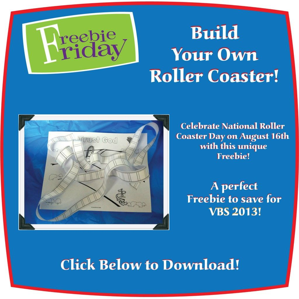 Build Your Own Roller Coaster Printable