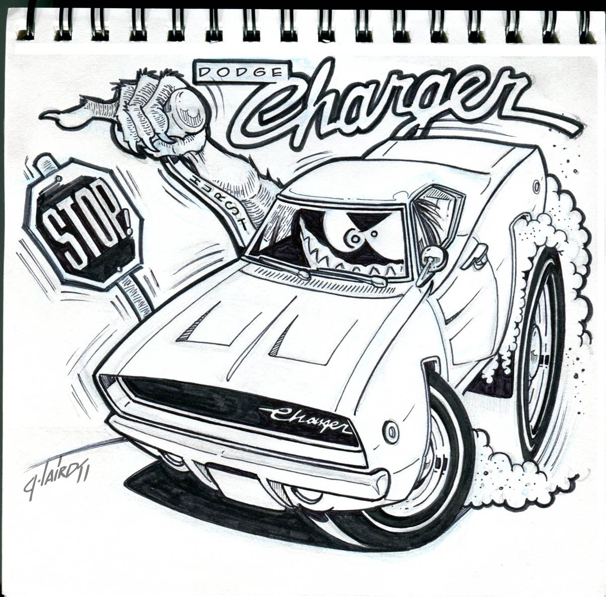 68 Charger Toon