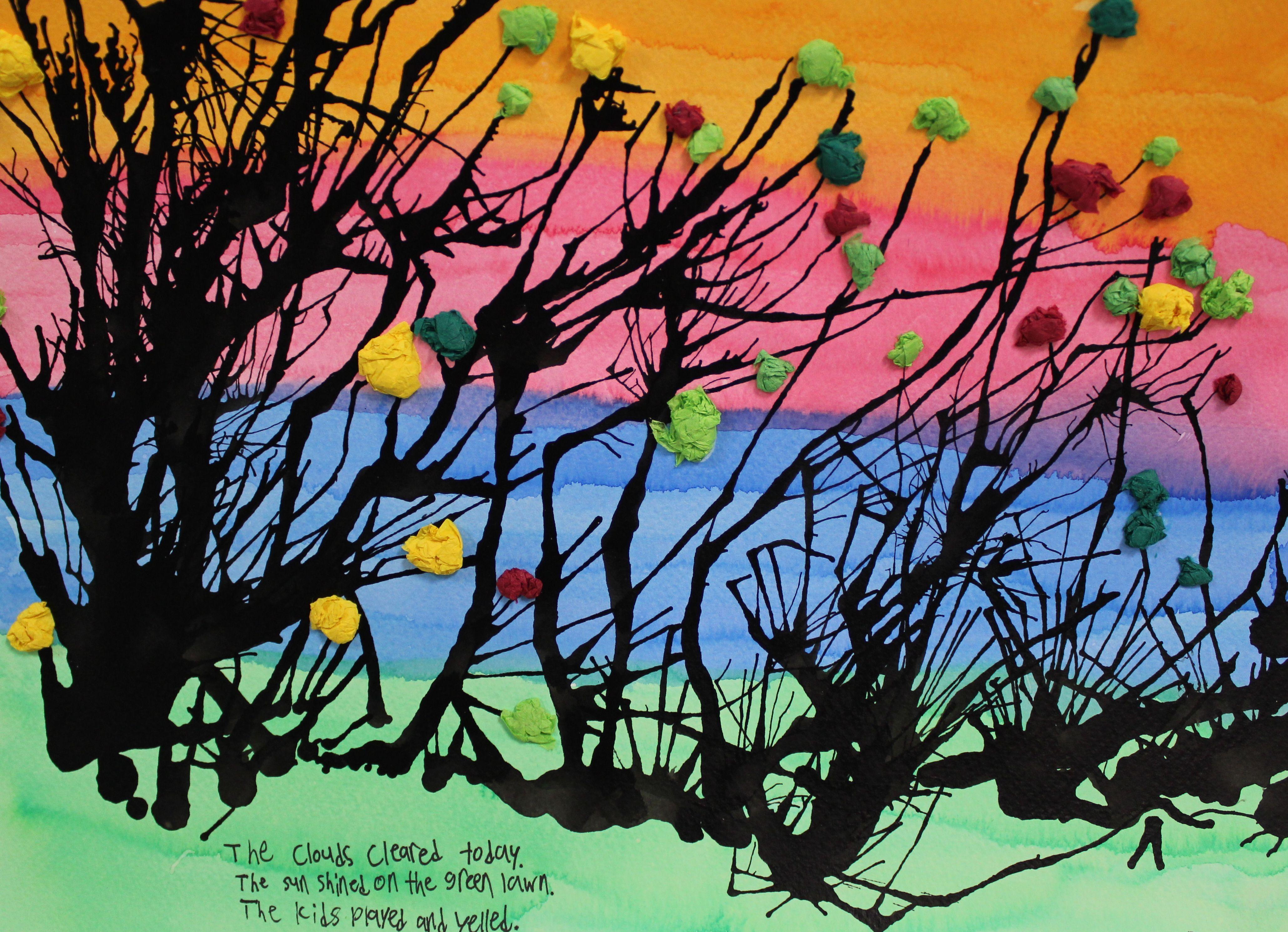Ink Trees With Haiku